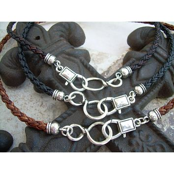Leather Necklace, Infinity Necklace, Leather Infinity Necklace, Mens, Womens, Mens Jewelry, Womens Jewelry