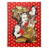 Quirky Office Gals Notebook
