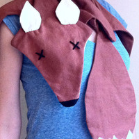 Dead Fox Scarf, hand dyed cotton flannel