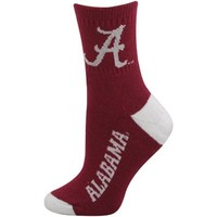 Alabama Crimson Tide Ladies Crimson-White Dual-Color Team Logo Crew Socks
