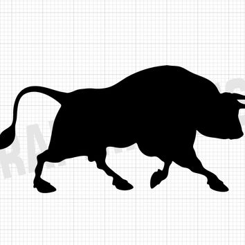 Bull Decal - Bull Vinyl Sticker - Animal Decals - Animal Stickers
