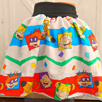 Rugrats Skirt or babydoll shirt convertable custom Kawaii Kinder