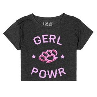 Gerl Powr-Unisex Heather Onyx T-Shirt