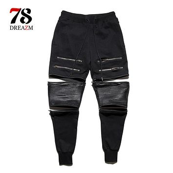 hip hop Men Pants Hip Hop Harem ripped jeans Joggers Male Trousers Men Joggers Solid Pants Sweatpants