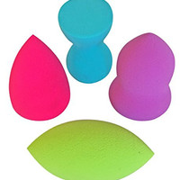 PRO Beauty Sponge Blender 4pc Set: Makeup Sponges for Blending, Highlighting and Contouring! Sheer Flawless Coverage with Liquid, Creams, and Powders; Compares to the Original