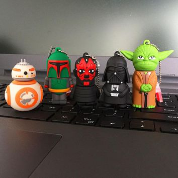 Star Wars Cartoon USB Pen drive Star wars darth vader 4GB/8GB/16GB/32GB usb flash drive flash memory stick pendrive U disk