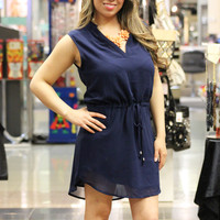 Brandy Sleeveless Navy Dress