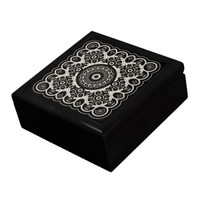 Lace Mandala Pattern - Wooden Gift Box with 6 inch Tile in Lid | Zazzle.com