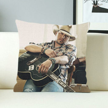 Jason Aldean - Design Pillow Case with Black/White Color.