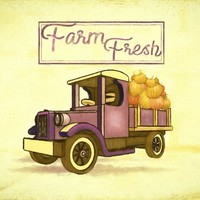 Pumpkin Patch Farm Fresh Truck, Instant Digital Download , Printable Fall Pumpkin Truck Graphic Transfer Image  Instant Download