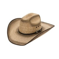 Cavenders 10X Wind River Double Burnt Brown Bound Edge with Buckle Palm Leaf Cowboy Hat
