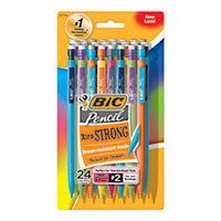 BIC Mechanical Pencils 09 mm Assorted Barrels Pack Of 24 by Office Depot
