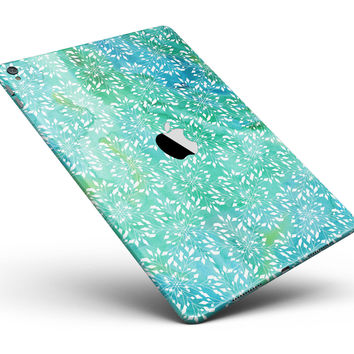 "Green and Blue Wtaercolor Fractal Pattern Full Body Skin for the iPad Pro (12.9"" or 9.7"" available)"
