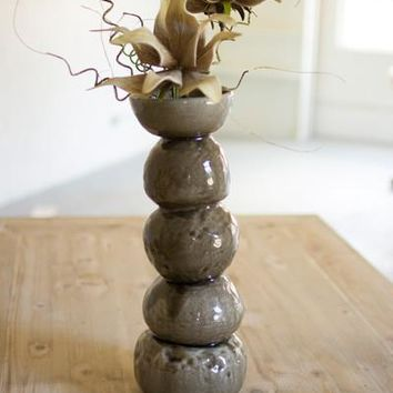 Ceramic Bulb Vase - Brown