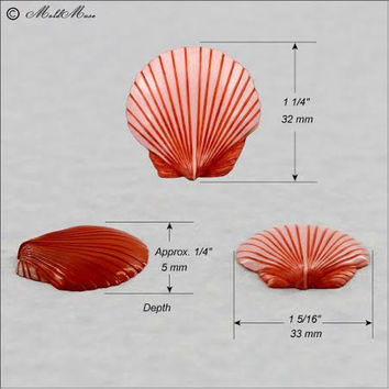 Seashell Mold Mould for fondant, resin, polymer clay, chocolate (299)