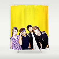 5sos Shower Curtain by kikabarros