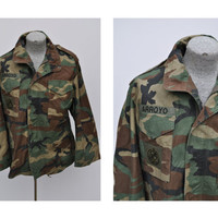 M65 vintage military army field jacket coat medium regular camoflauge camo