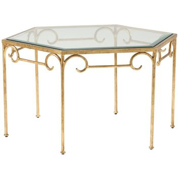 Lorenzo Gold Cocktail Table