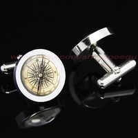 vintage compass Mens Cufflinks,Personalized Mens Cufflinks,mens gift birthday gift