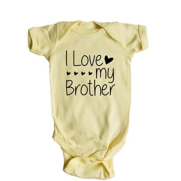 I Love My Brother Baby Onesuit