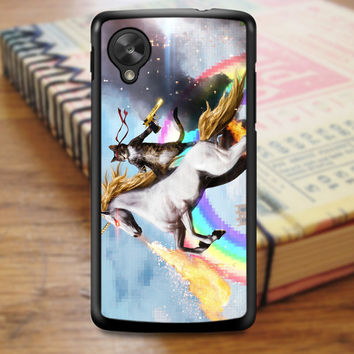 Cat Riding Unicorn Nexus 5 Case