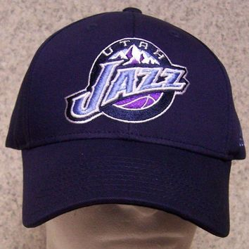 Embroidered Baseball Cap Sports NBA Utah Jazz NEW 1 hat size fits all Adidas