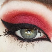 Hearts Shimmery Red Mineral Eyeshadow from Concrete Minerals