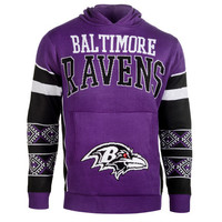 "Baltimore Ravens Official NFL ""Big Logo"" Hooded Sweatshirt by Klew"