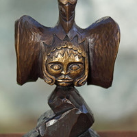 Thunderbird Carries the Sun Bronze Statue - North Coast Indian Haida, Native American