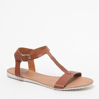 Black Poppy Ankle Strap Sandals - Womens Sandals - Brown