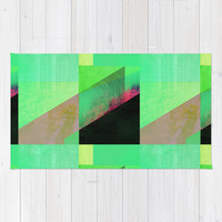 Green City Abstract Area & Throw Rug by Amelia Senville | Society6