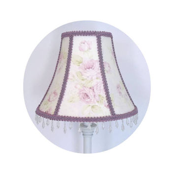 Lavender Rose Floral Shabby Chic fabric ~ Lamp Shade