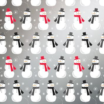 Bulk Ream Roll Christmas Gift Wrap Wrapping Paper, Snowman