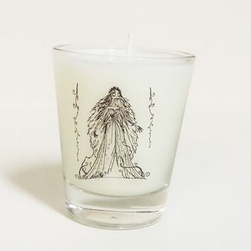 Corpse Bride Candle - Soy Shot Glass Candle - Bride