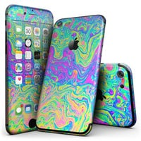 Neon Color Swirls V2 - 4-Piece Skin Kit for the iPhone 7 or 7 Plus