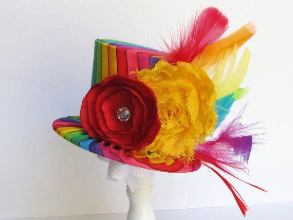 Mini Top Hat Headband Alice In From Trulysweetcircus On Etsy