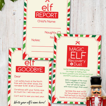 Magic Elf Visit - Combo Printable Pack