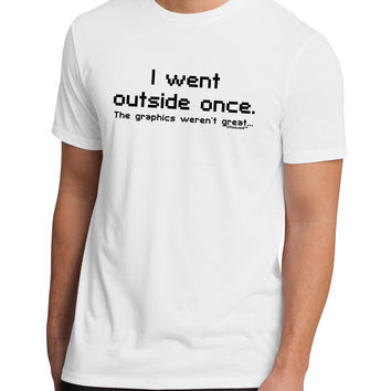 I Went Outside Once Text Men's Sublimate Tee