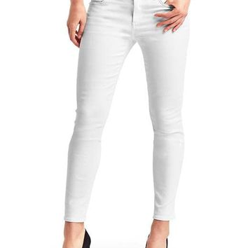 Mid rise destructed true skinny ankle jeans | Gap