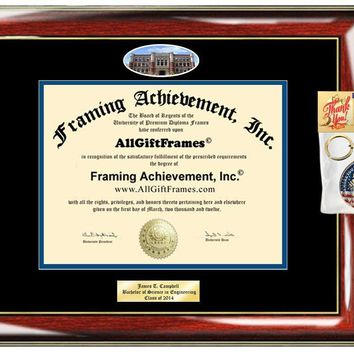 AllGiftFrames Custom Diploma Frame Embossed Concordia College New York Best Graduation Degree Frame Double Mat Campus Fisheye Picture Frame Cheap Degree Certificate Holder Graduate Gift