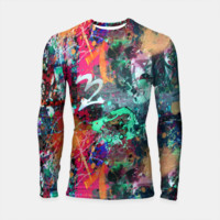 Graffiti and Paint Splatter Longsleeve Rashguard , Live Heroes
