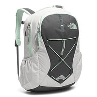 Women's Jester Backpack in Lunar Ice Grey & Subtle Green by The North Face