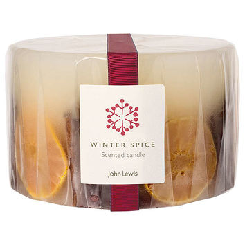 John Lewis Winter Spice Inclusion 3 Wick Candle at John Lewis