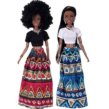 Reborn Doll Baby Movable Joint African Doll Toy for Girls