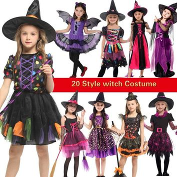 halloween costume for kids witch costumes girls anime cosplay medieval children child scary vampire Carnival Party fancy dress