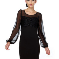 Canterbury Cathedral Black Dress $41.00