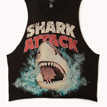 Shark Attack Muscle Tee | FOREVER 21 - 2002246067