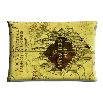 harry potter, marauders map Case Cover Pillow