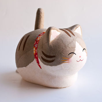 Kyoto Washi Solar Cat Good Luck Grey Tabby