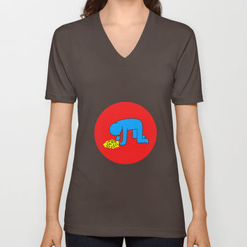 Keith Haring style - Too much alcohol - Funny Illustration Pop Art V-neck T-shirt by Estef Azevedo
